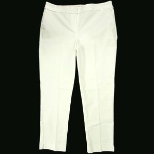 NEW Boden Womens Pants Sz 10R White Cotton Blend